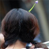 頭につけるWi-Fiが中国四川省で人気髪飾りになった