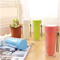 500ML販促品カップ、二重プラスチックシールカップ
