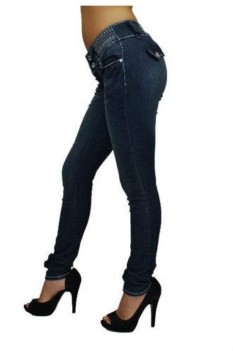 女性のファッションセクシーなプッシュアップスタイルコロンビアデーミンスキニージーンズ