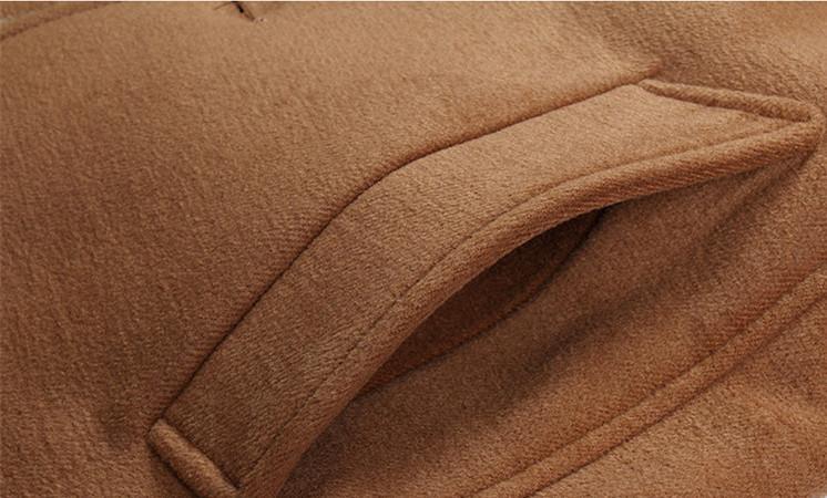 冬の長いパーカーシンデブリティッシュスタイルのレディースロングジャケット