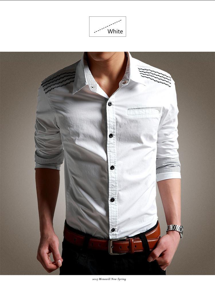 秋ファッションシャツ製造機自動綿洗浄ケブラーシャツメンズ