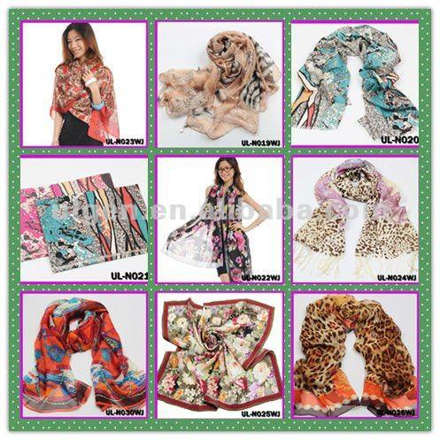 最新の新しいスタイルの女の子の絹のスカーフデジタルプリントタイのスカーフ
