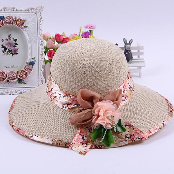 ファッション女性の広い大規模なつばの夏わら浜日よけ帽ダービー米ファッション帽子キャップ