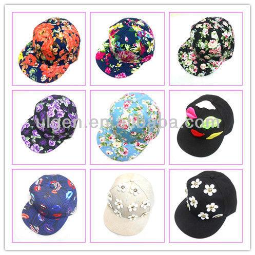 顧客5花パネル帽子スナップバックパネルの花帽子