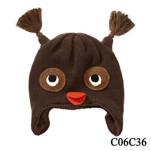 熱い販売の子供の動物の冬の帽子