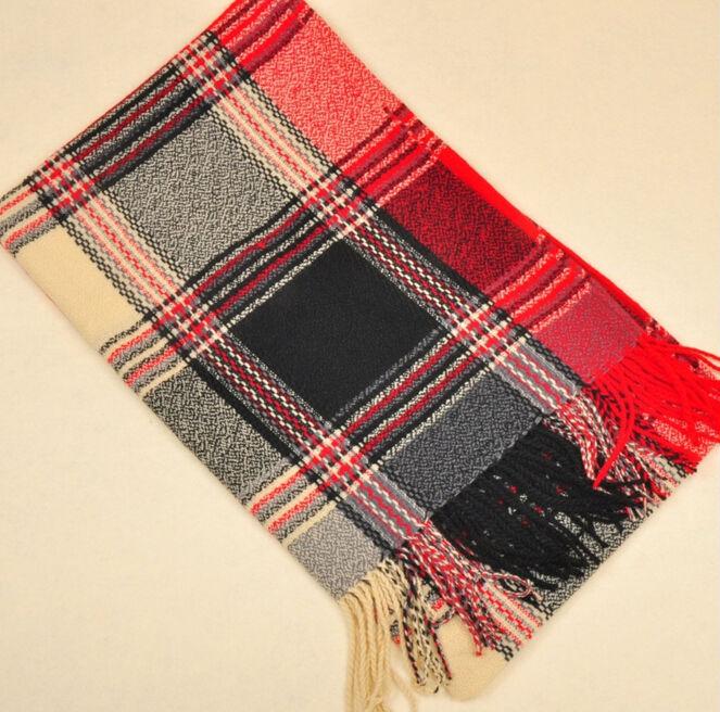 ブリティッシュスタイルキャンディーカラーウールスカーフ男女兼用裏編みウールのスカーフ、 パシュミナカシミヤスカーフ