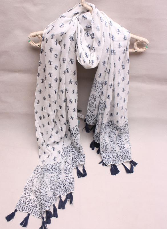 2014人気女性用 マフラー パリ紗素材ラップ ビッグサイズ レディース スカーフ 新型エアコンストール カシューナッツプリントタッセルストール