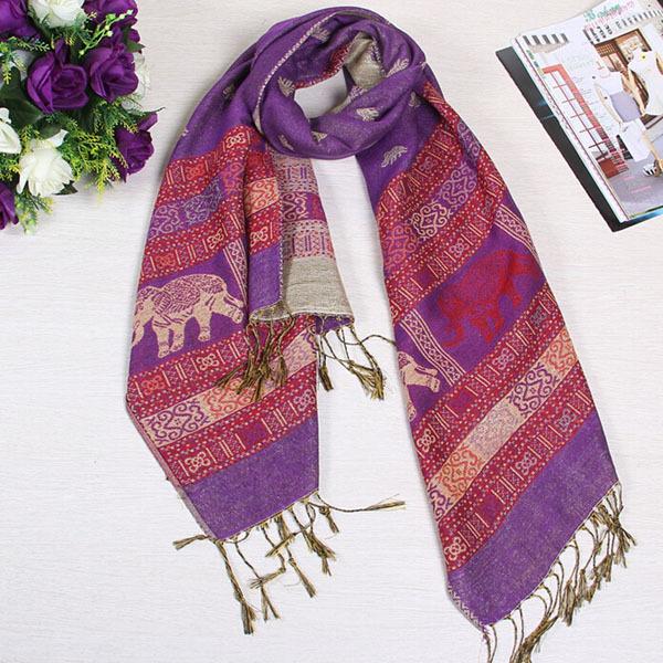 対外貿易輸出に縁取られた美しい動物のスカーフショール