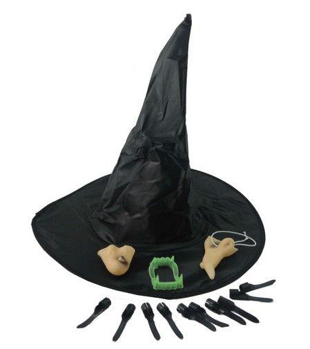 黒い帽子ハロウィーンパーティーの衣装セット装飾された魔女の帽子
