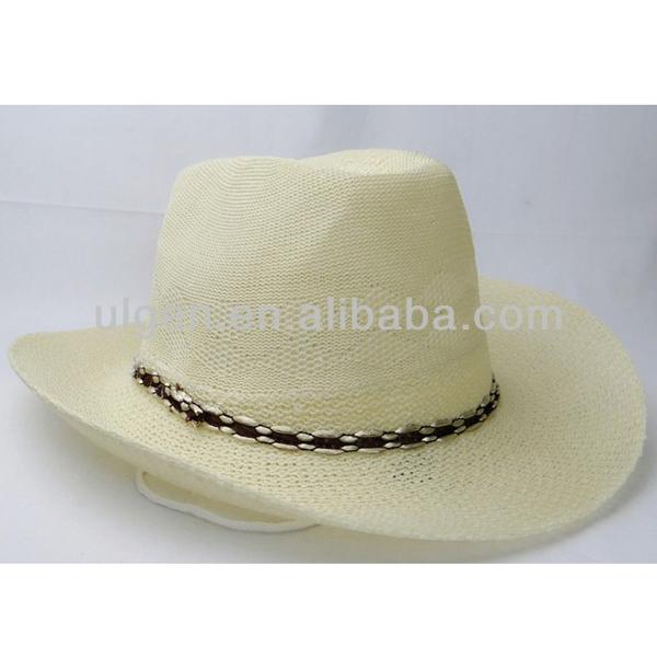 男性の紙のストローフェドーラ帽