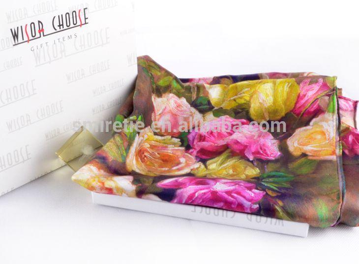 デジタル印刷のためのインドの絹のスカーフ