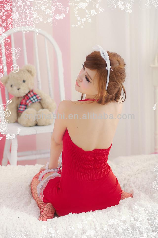 メイドコスプレ衣装セクシーなランジェリーのセクシーなドレス
