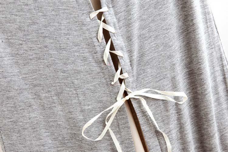 巾着nz1620ノースリーブモーダル女性のためのビーチのドレス