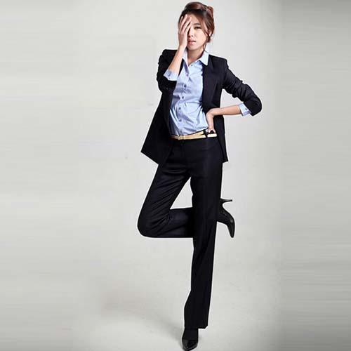 韓国の正式な女性のビジネススーツnz8025最新のデザイン事務服 韓国の正式な女性のビジネススー