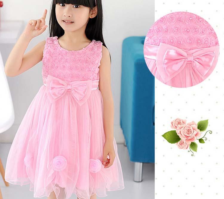 ta1320子供フォーマルウェディングドレス2015袖なしの女の子の服