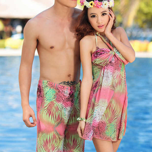 男女ペア水着 レディース メンズ用 ビキニ 女性水着 男性水着 海パン ペア水着 ビキニ セパレート オーバーウェア ペアルック 男子 女子 メンズ レディース 水着ビキニ ワンピース レオタード プール 海水浴 ハワイ 海外旅行