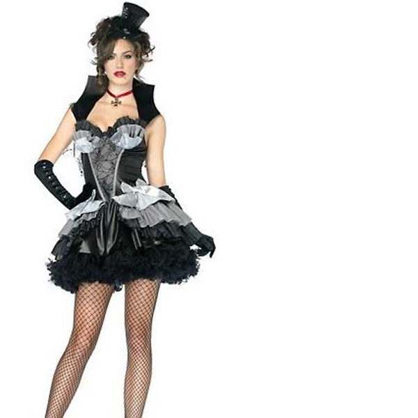 セクシーな衣装大人サーカスリングマスター女性のミディアムハロウィーン