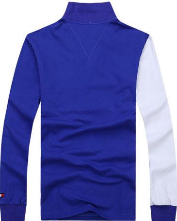 卸売綿100%ブランクプレーン染め長袖メンズポロシャツストライプポロシャツ保証貿易