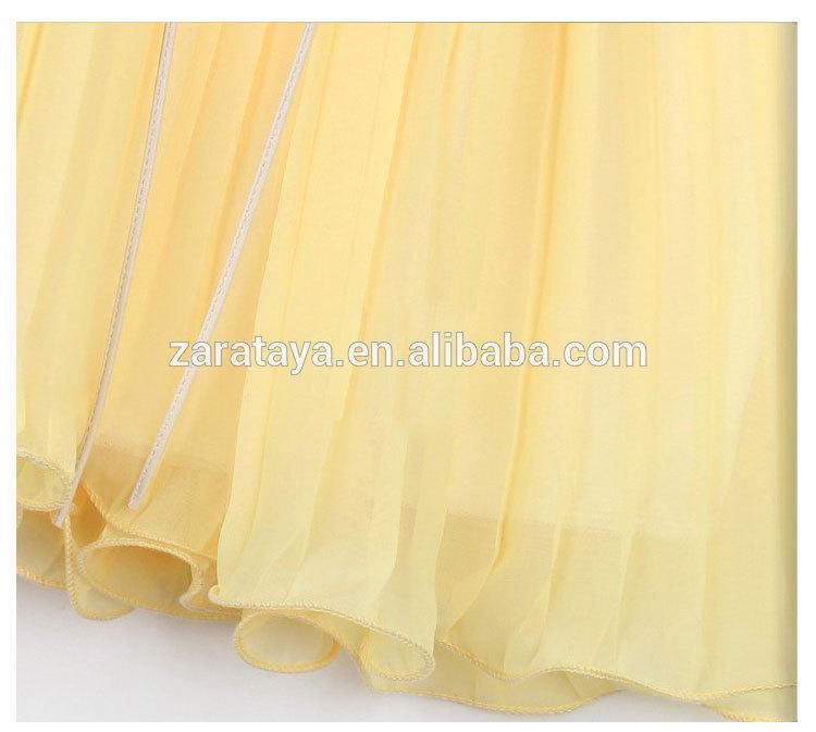 シフォン、 女性のタンクトップドレス2014年春夏新ファッションヨーロッパやアメリカの下げ止まりの薄膜を示すプリーツシャツ