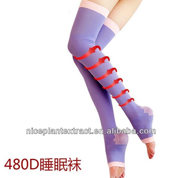 コラーゲン繊維圧迫ストッキングピンク、 高品質の圧縮ストッキング