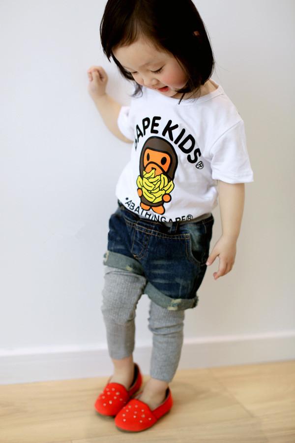 2014年ホット! ファッション韓国子供服子供半袖t- シャツ/卸売