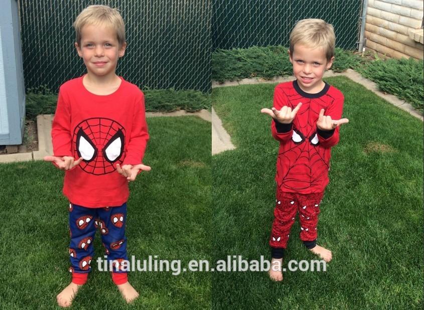子供緑のマイク2015パジャマ、 ベビーバックパックの子供のパジャマで設定された、 ブランドパジャマ工場直接!