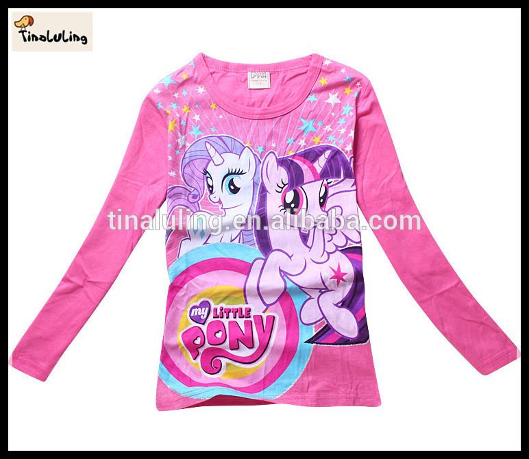 新しい長袖t- シャツマイリトルポニー卸売子供服海外
