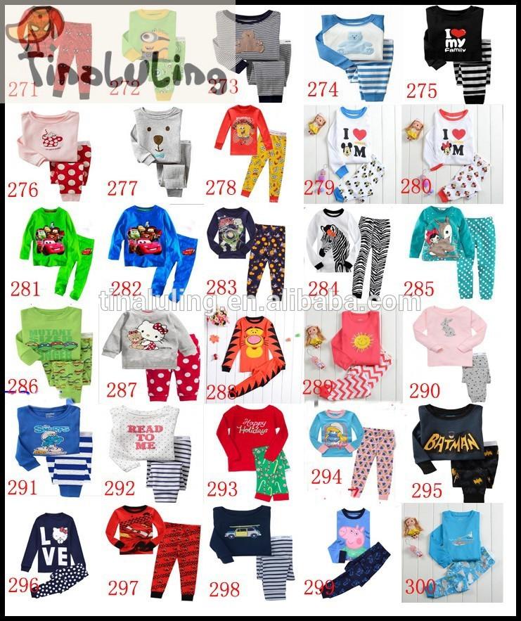子供用長袖2個ストライプパジャマパジャマ子供のための赤ちゃん