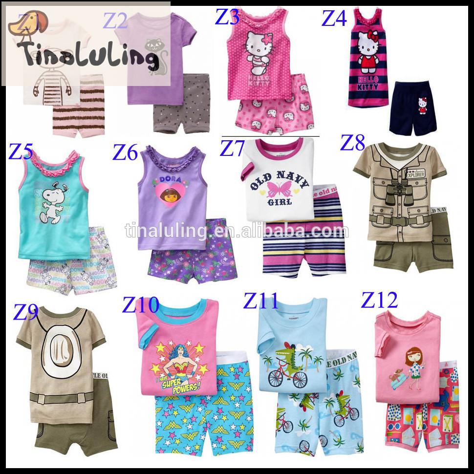 卸売綿のパジャマパジャマ2015車の男の子の服の赤ん坊の衣類