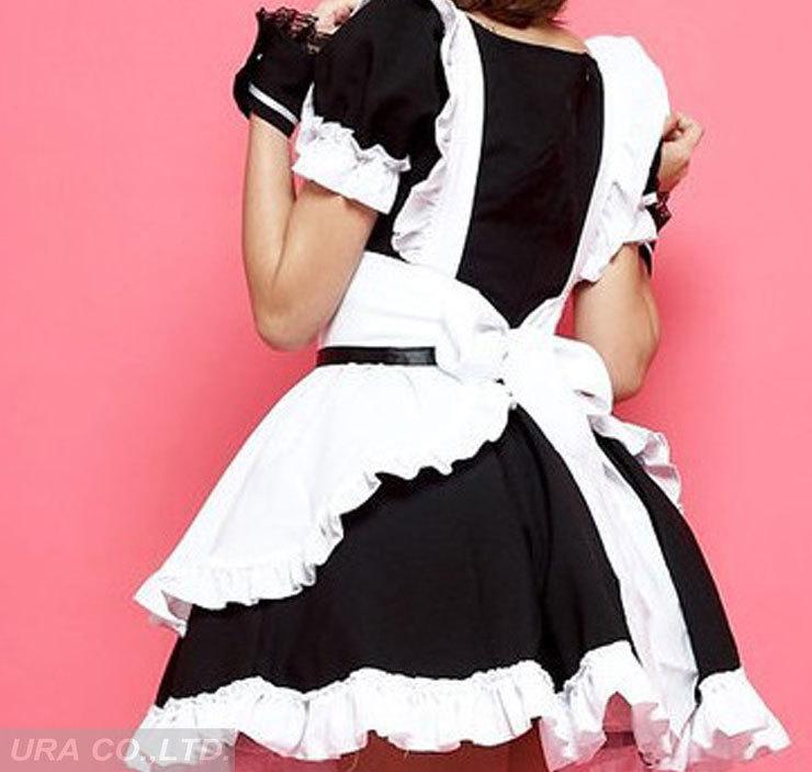 スーパーus3285黒と白のメイドの衣装ランジェリー役割- 再生メイド制服スーツ