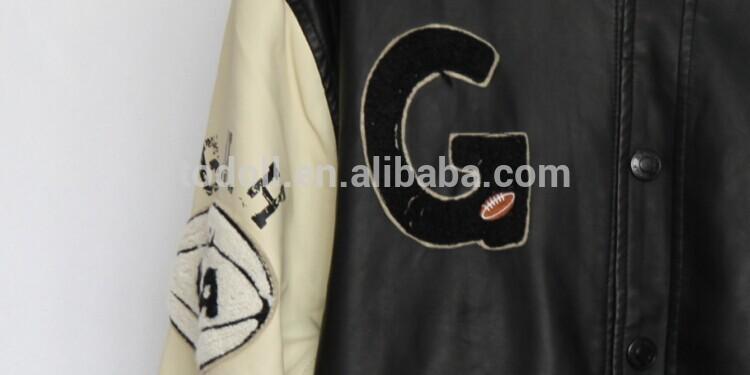 メンズpu革の野球のジャケット