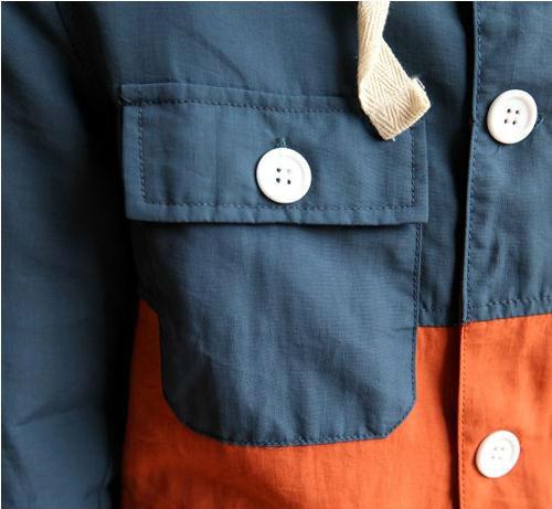 ファッションフード付きcolourblockポケットジャケットのコート男性用