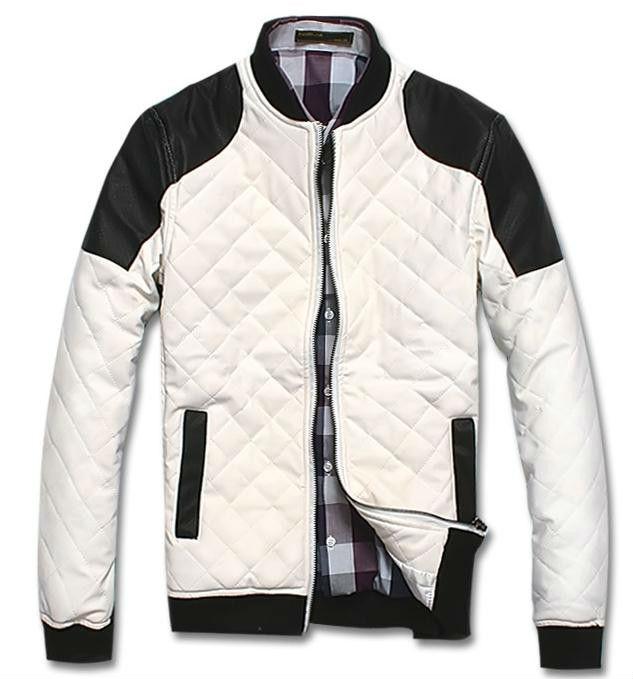 ファッションオートバイのチェック模様のパッチワークボンバーの野球のジャケット